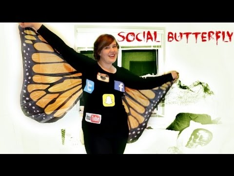 Butterfly Halloween Costumes heidi klum butterfly Last Minute Halloween Costume Social Butterfly Youtube