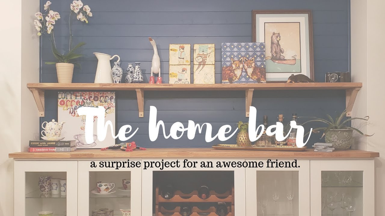 Custom Built In Home Bar The Surprise Project Youtube