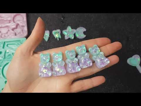 Watch Me Resin #20 Pastel Minty and Purple Shaker Charms! | Seriously Creative Resin Timelapse