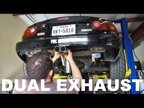 FULLY CUSTOM DUAL EXHAUST (Project Miata DIY install)