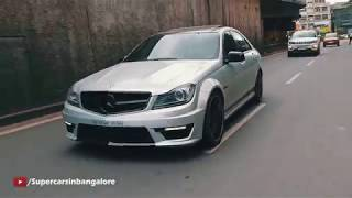 Brutal Sounding Mercedes C63 AMG with ArmyTrix Exhaust System!!