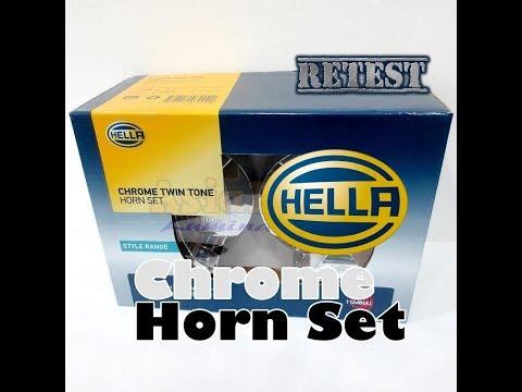 *Re-test* Hella Chrome Trumpet Horn Set Twin Tone - 410Hz/510Hz 112dB