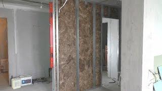 как правильно сделать стенку из гипсокартона