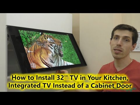 How To Install 32'' TV In Your Kitchen, Integrated TV Instead Of A Cabinet Door