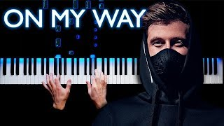 Alan Walker - On My Way | Piano cover (Sabrina Carpenter & Farruko)