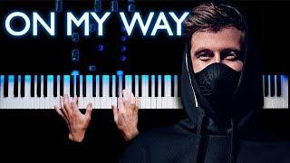 Download Alan Walker - On My Way   Piano cover (Sabrina Carpenter & Farruko)
