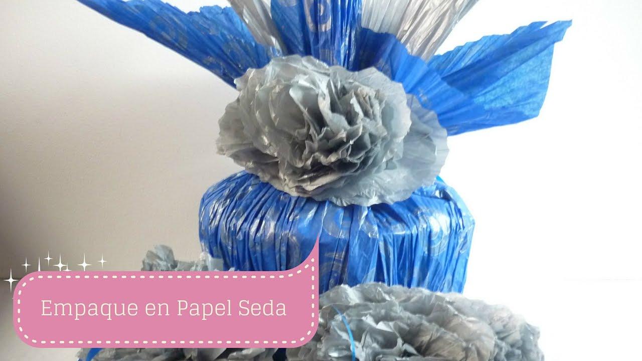 Manualidades c mo envolver regalo en papel seda diy sor - Envolver regalos con papel de seda ...