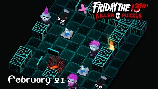 Friday the 13th: Killer Puzzle - Daily Death February 21 Walkthough (iOS, Android)