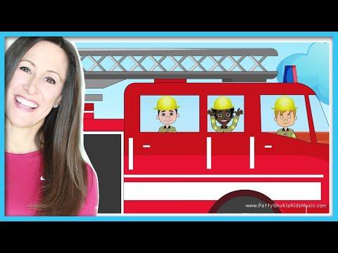 Fire Truck Song for Children and Kids | Cartoon, Fireman Nursery Rhymes | Patty Shukla