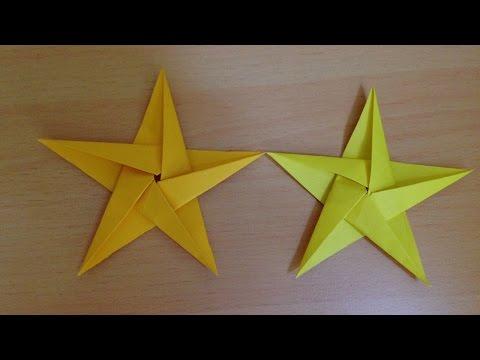 折り紙の星 折り方 Origami star tutorial