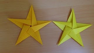 折り紙の星 折り方 Origami star tutorial thumbnail