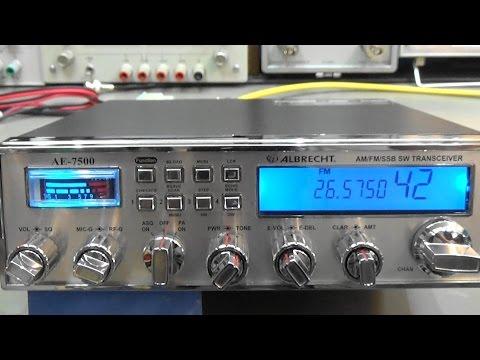 #98 Radio Lab-Test Albrecht AE7500  SSB/AM/FM  10/12m Amateur Radio / CB Radio