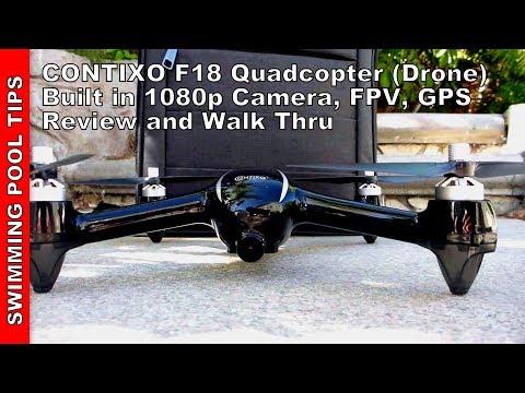 Contixo F18 RC Quadcopter (Drone) 1080P HD Live FPV Video,  Advanced GPS Assisted Hovering