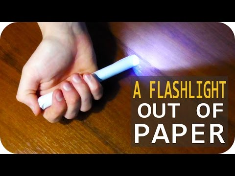 DIY. How to make A FLASHLIGHT OUT OF PAPER