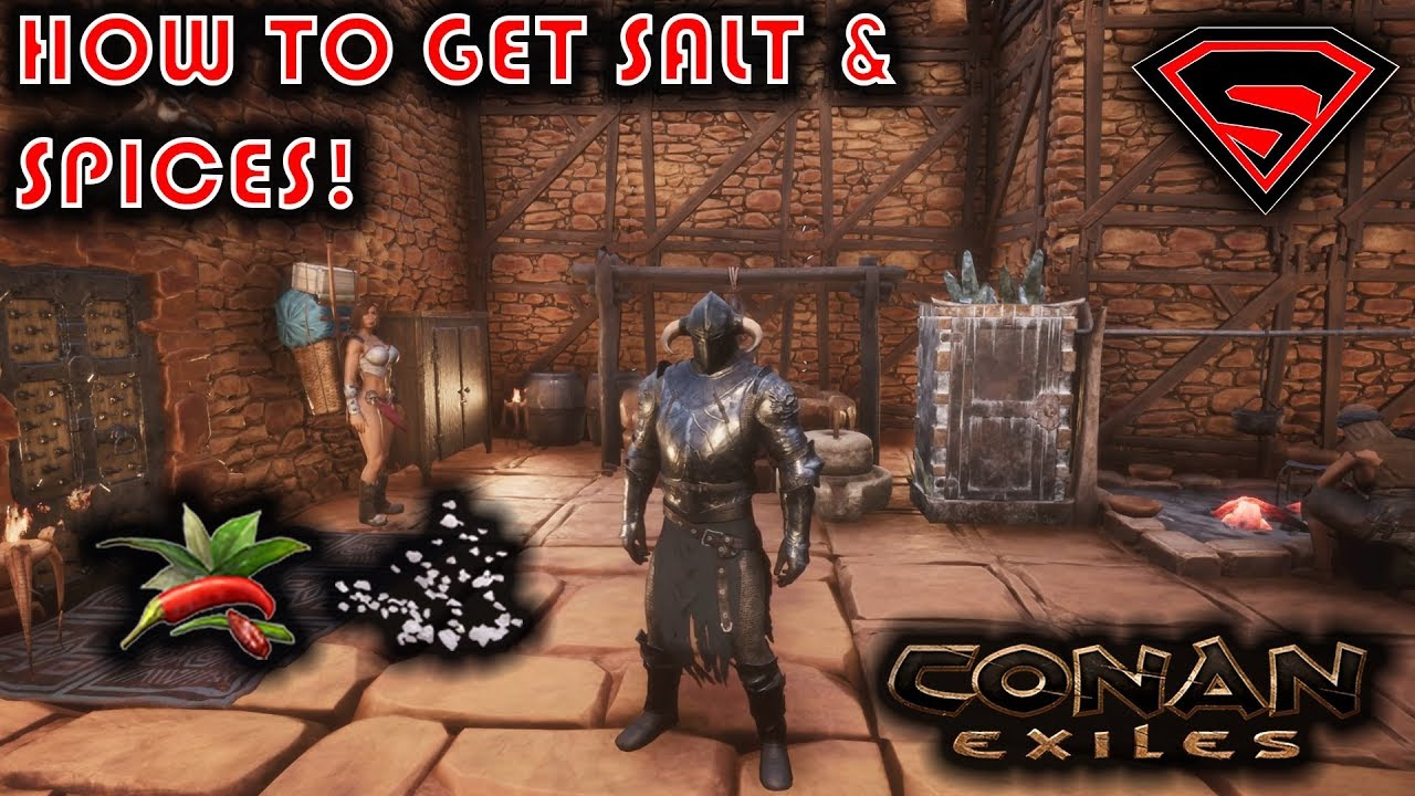 CONAN EXILES HOW TO GET SPICES AND SALT - YouTube