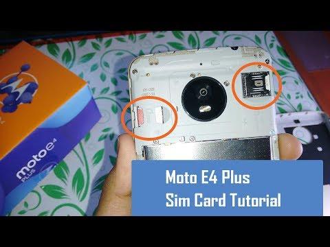 How insert Sim Card in Moto E4 Plus - Tutorial