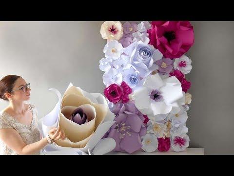 Fleurs Geantes En Papier Youtube