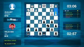 Chess Game Analysis: Antoni67 - RAJA1995 : 0-1 (By ChessFriends.com)