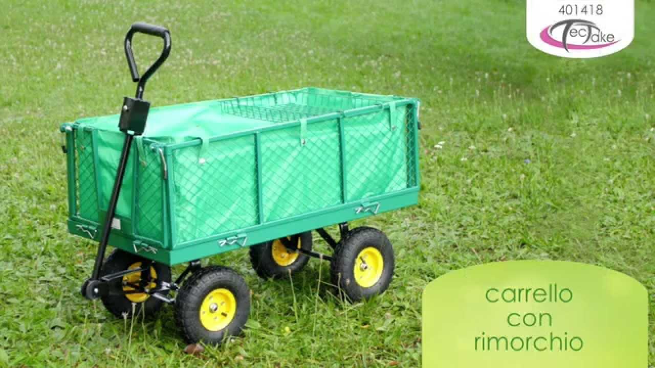 Carrello Da Giardino Usato : Tectake carrello con rimorchio youtube