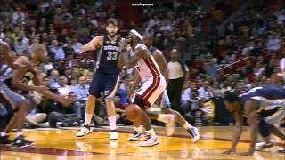 Unconscious Lebron losts control and clashes with Wade thumbnail