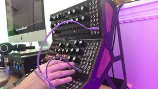 Testing out the MOOG DFAM/SUBHARMONICON/MOTHER32