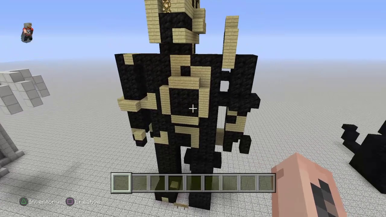 How to build bendy and the ink machine in minecraft