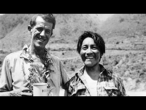 Edmund Hillary and Tenzing Norgay climb Everest - 1953 archive video
