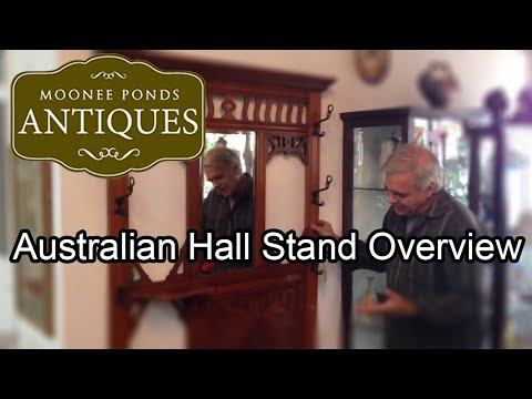 Australian Oak Hall Stand - Moonee Ponds Antiques