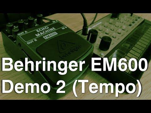 [DEMO] Behringer EM600 Echo Machine Part 2: Tempo (w/ Volca FM)