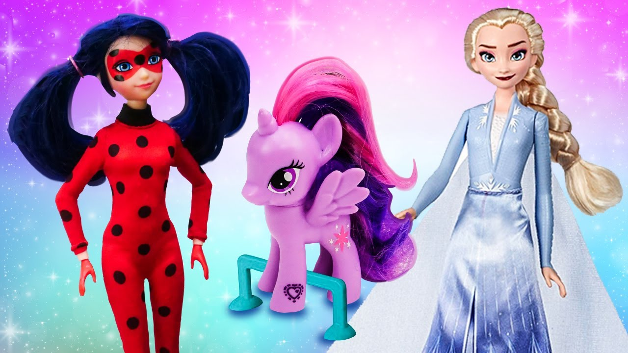 Las recetas de la muñeca Frozen y los juguetes My Little Pony. Juegos de cocinar. Cocina para niños