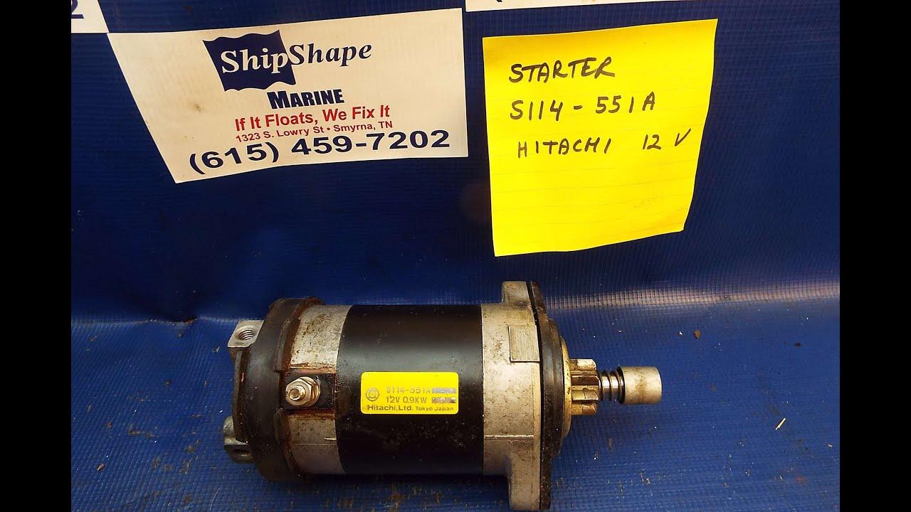 FOR SALE - Suzuki Starter S114-551A $75.00