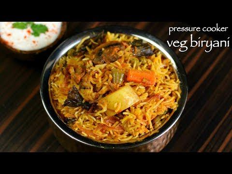 Veg Biryani In Cooker -  How To Make Vegetable Biryani  - Recipe In Cooker