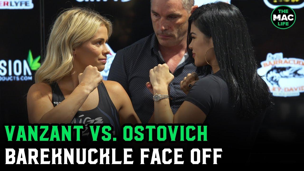 Paige VanZant vs. Rachel Ostovich Face Off   BKFC 19 Press Conference
