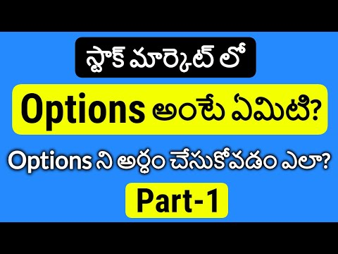 Options in Telugu Part 1 | What is Option in Stock Market | Options Basics for Beginners