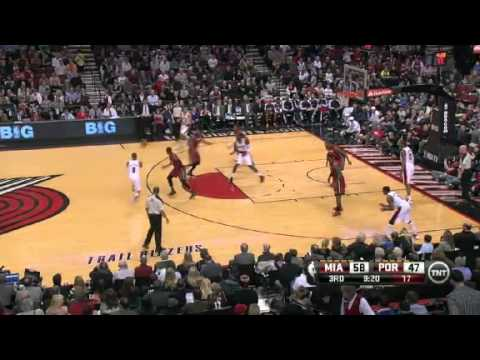 Nicolas Batum's Wonderful Dunk On The Heat