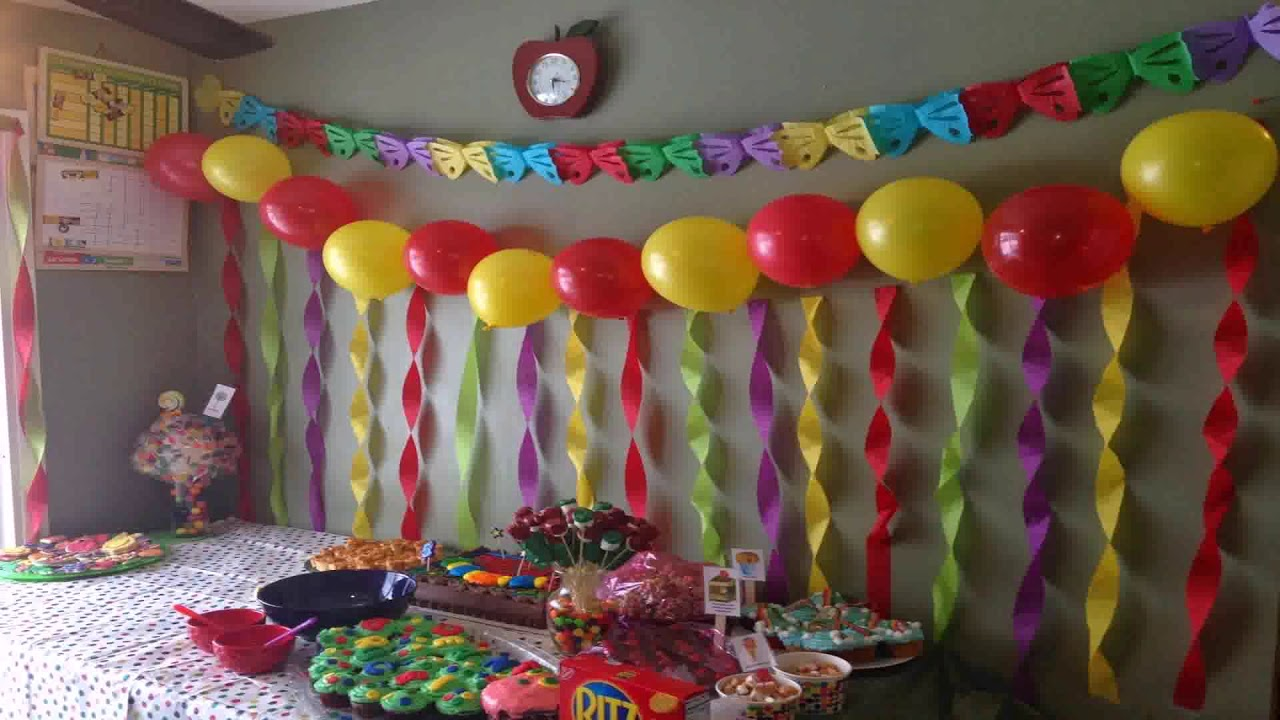 Simple Birthday Decoration Ideas At Home With Balloons