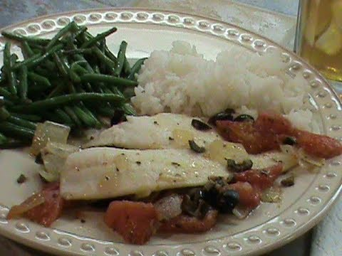 Oven Baked Greek Flounder Fillets