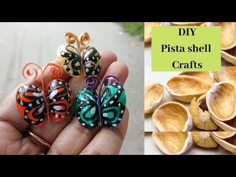 How to make pista shell Butterflies/DIY crafts with pista shells/best DIY