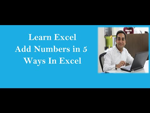 Add Numbers In Excel with 5 Variations
