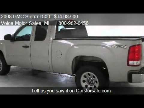 2008 gmc sierra 1500 sl 4x4 extended cab standard box for for Voice motors kalkaska michigan