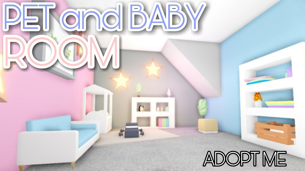 Pet And Baby Room Adopt Me Speed Build Youtube