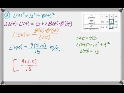 Calc AB & Calc BC 2011 (Form B) FRQ #5 - YouTube