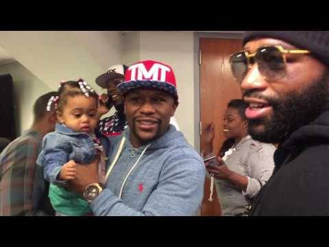 Floyd mayweather Godfather to Adrien broner baby meet the family esnews boxing
