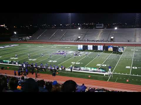 Weslaco High School Panthers Corps Marching Band at Pigskin Competition 2018