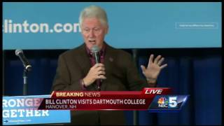 Video: President Bill Clinton appears at Dartmouth College