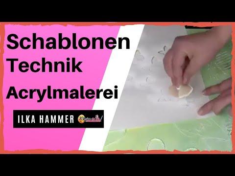 Acrylmalerei fr Anfnger  Schablonentechnik aus Gratis