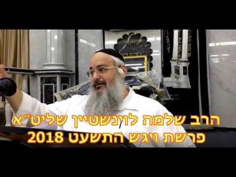 הרב שלמה לוינשטיין   פרשת ויגש התשעט   2018