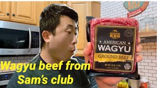 Cooking a Wagyu burger from Sam's club. Was it better than Walmart Wagyu beef?? Let's find it out!