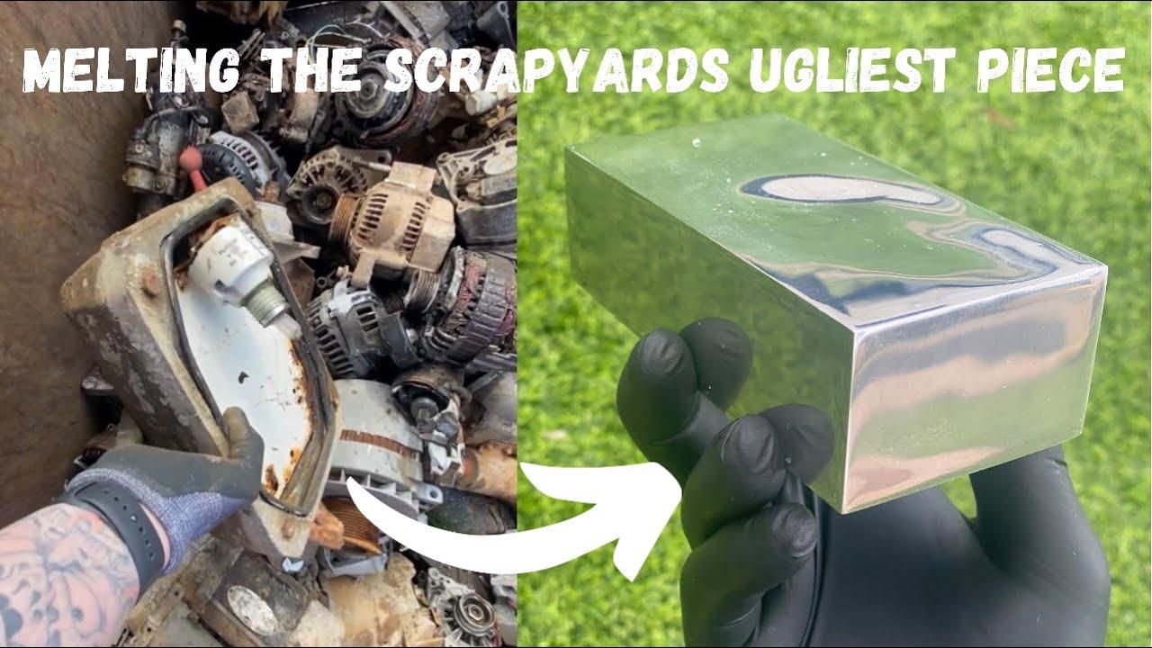 Download Scrap Yard Salvage - Triple Metal Melt - Trash To Treasure - ASMR Metal Melting - BigStackD Casting