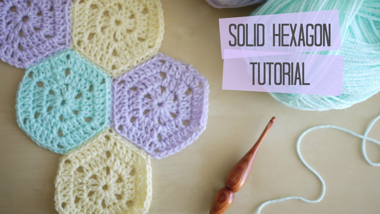 Crochet Solid Hexagon And Joining Tutorial Bella Coco Youtube